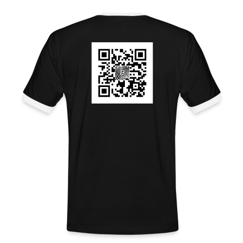 QR Code Want a free belly - Mannen contrastshirt