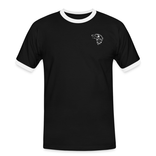 black wolveslogo wolf weis - Männer Kontrast-T-Shirt