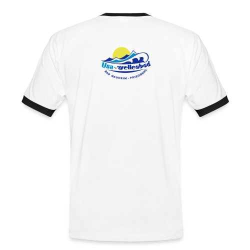 logo usa wellenbad - Männer Kontrast-T-Shirt