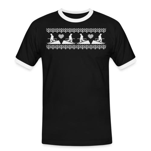 Telemark frise Scandinave white - T-shirt contrasté Homme