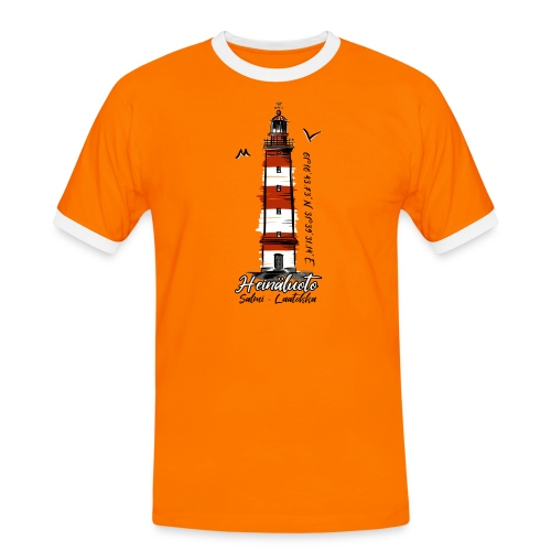 Old Finnish Lighthouse HEINÄLUOTO Textiles, Gifts - Miesten kontrastipaita