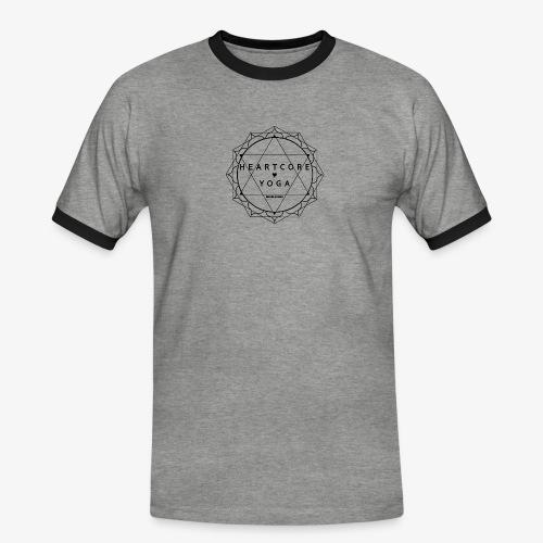 Heartcore Yoga - Mannen contrastshirt
