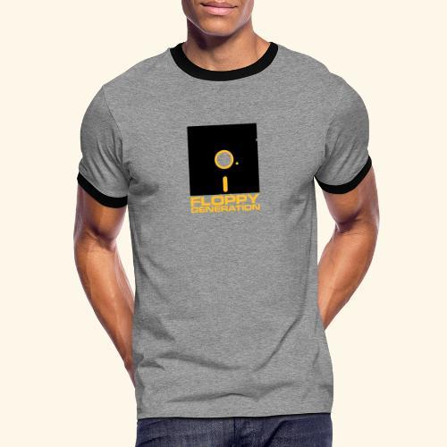 Floppy Generation 5 1/4 - Kontrast-T-shirt herr