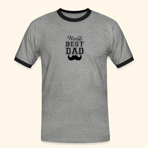 Worlds best dad - Herre kontrast-T-shirt