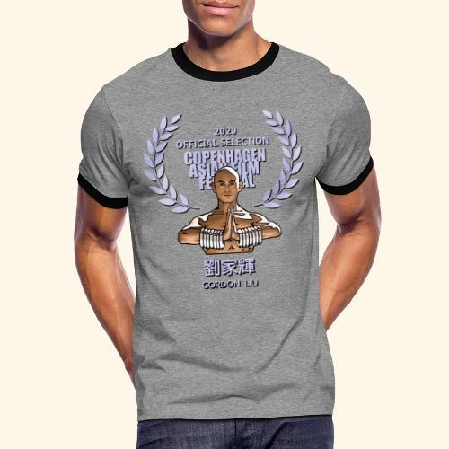 CAFF Official Item - Shaolin Warrior 1 - Herre kontrast-T-shirt