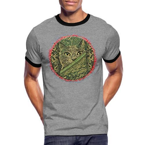 CAT GRACE CAMOUFLAGE - Männer Kontrast-T-Shirt