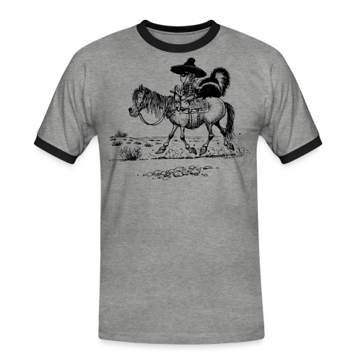 Thelwell Cowboy mit einem Stinktier - Männer Kontrast-T-Shirt