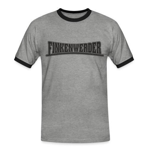 Finkenwerder schwarz - Männer Kontrast-T-Shirt