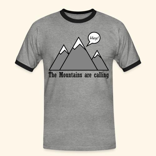 mountains calling - Männer Kontrast-T-Shirt