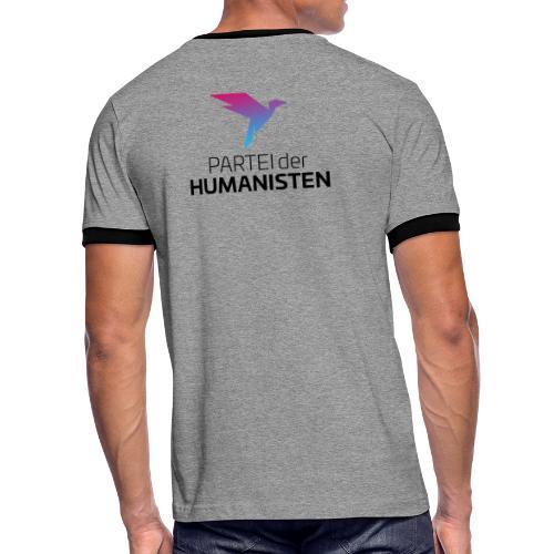 Statement Logo beidseitig - Männer Kontrast-T-Shirt