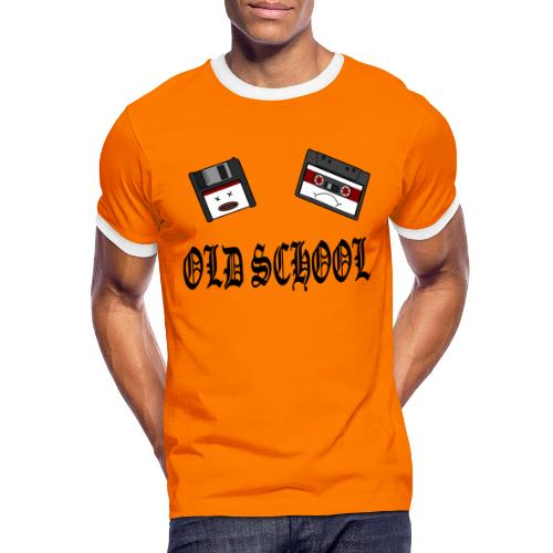 Old School Design - Männer Kontrast-T-Shirt