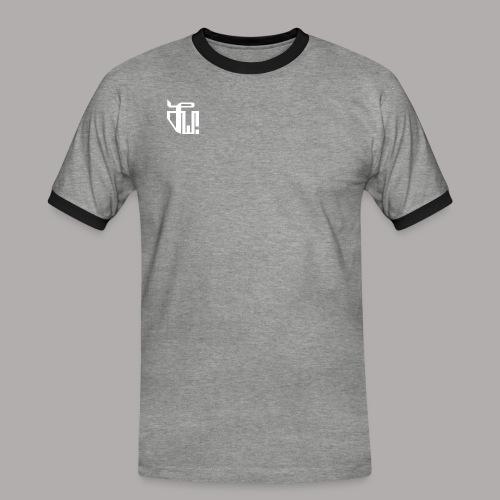 Zirkel, weiss (vorne) Zirkel, r w g (hinten) - Männer Kontrast-T-Shirt