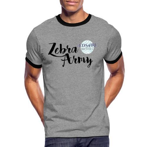 Zebra Army (black) - Men's Ringer Shirt