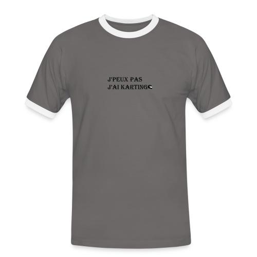 j'peux pas j'ai karting - T-shirt contrasté Homme