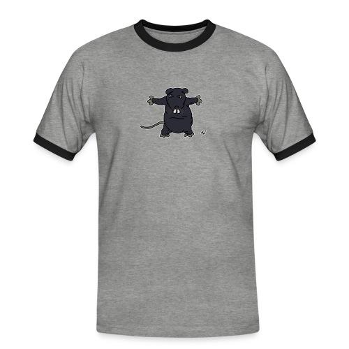 Henkie the Plush Rat - Kontrast-T-skjorte for menn