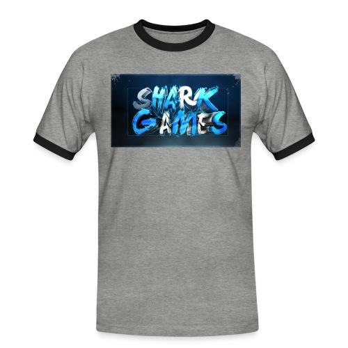 SharkGames - Maglietta Contrast da uomo