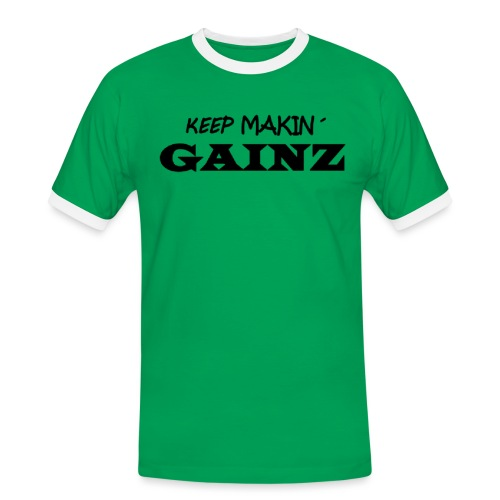 KeepMakin'Gainz_black - Men's Ringer Shirt