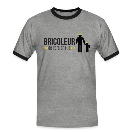 BRICOLEUR DE PERE EN FILS - T-shirt contrasté Homme