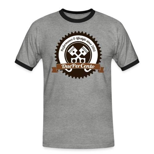 DuePerCento Logo Color - Maglietta Contrast da uomo