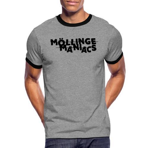 Möllinge Maniacs svart logga - Kontrast-T-shirt herr