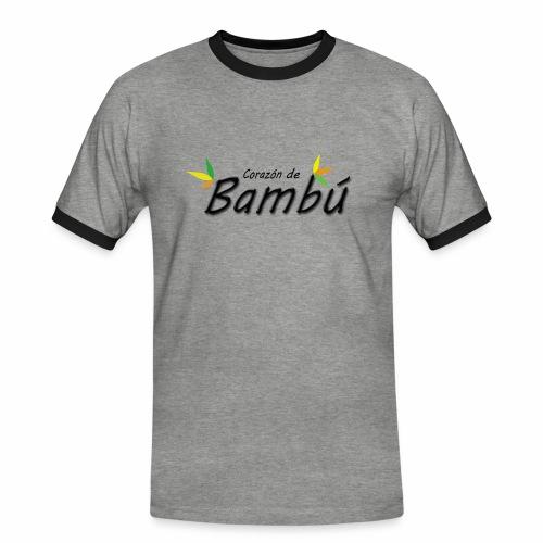 Corazón de bambú - Camiseta contraste hombre