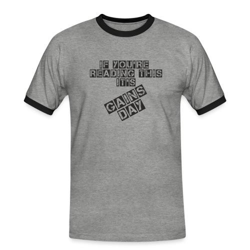 gainsday - Herre kontrast-T-shirt