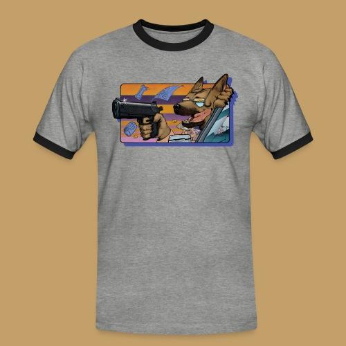Gun Dog - bez napisu - Koszulka męska z kontrastowymi wstawkami