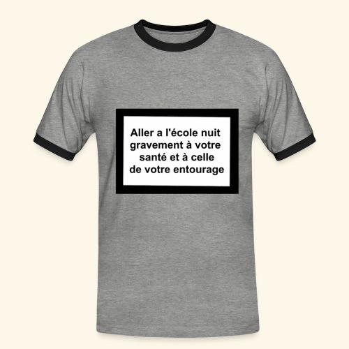 L'école tue - T-shirt contrasté Homme