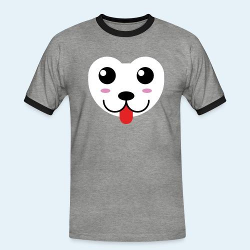 Husky perro bebé (baby husky dog) - Camiseta contraste hombre