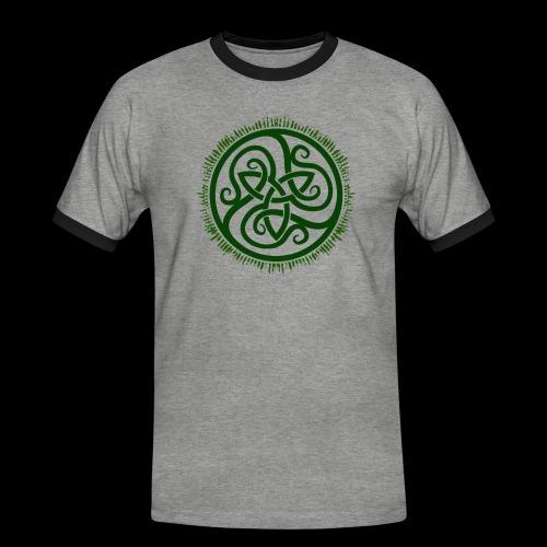 Green Celtic Triknot - Men's Ringer Shirt