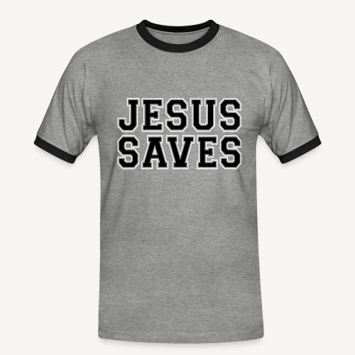 JESUS SAVES - Men's Ringer Shirt