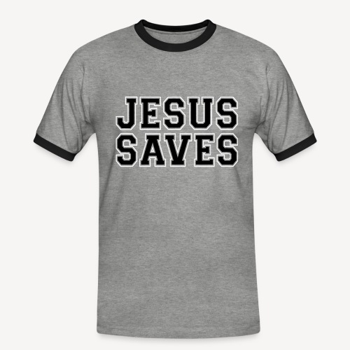 JESUS SAVES - Men's Ringer Shirt