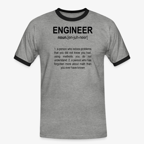 Engineer Def. 2 Black - T-shirt contrasté Homme