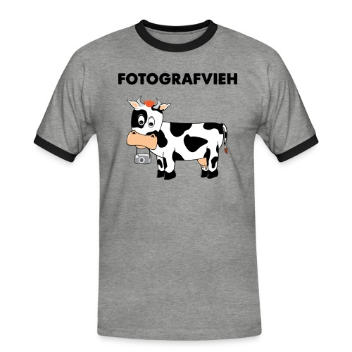 Fotografvieh - Männer Kontrast-T-Shirt