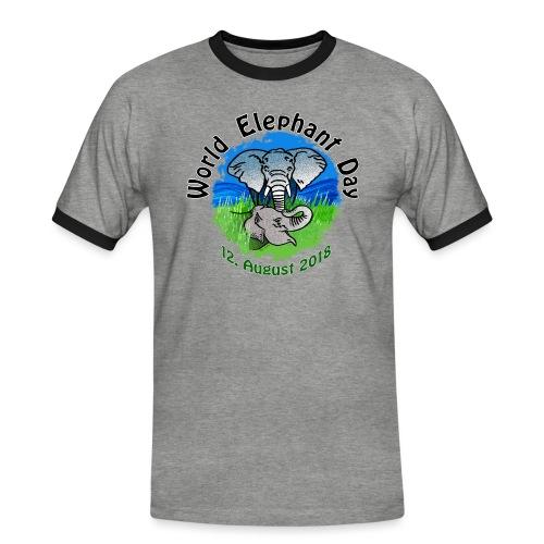 World Elephant Day 2018 - Männer Kontrast-T-Shirt