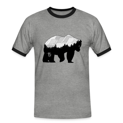 Geometric Mountain Bear - Maglietta Contrast da uomo