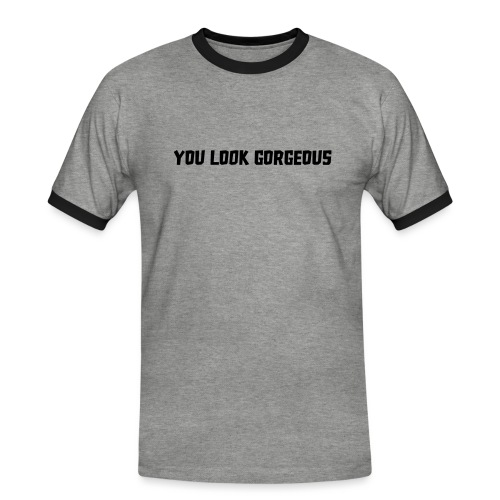 YOU LOOK GORGEOUS - Mannen contrastshirt