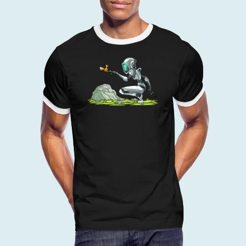 funny robot - Maglietta Contrast da uomo