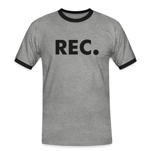 Rec zwart - Mannen contrastshirt
