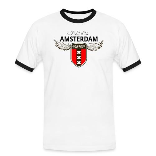Amsterdam Netherlands - Männer Kontrast-T-Shirt