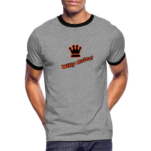 willy rulez koningsdag - Mannen contrastshirt