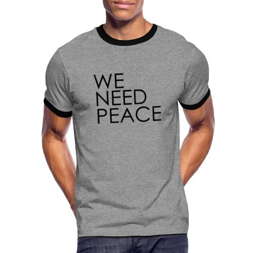 WE NEED PEACE - T-shirt contrasté Homme