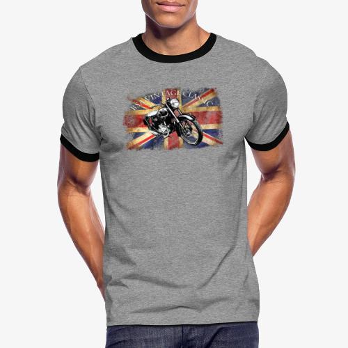 Vintage famous Brittish BSA motorcycle icon - Men's Ringer Shirt