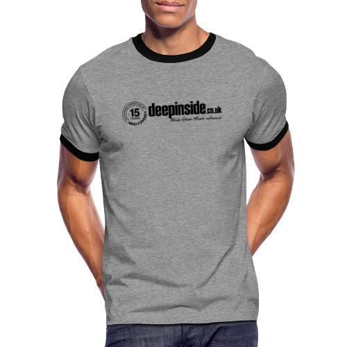 15 years anniversary logo black - Men's Ringer Shirt