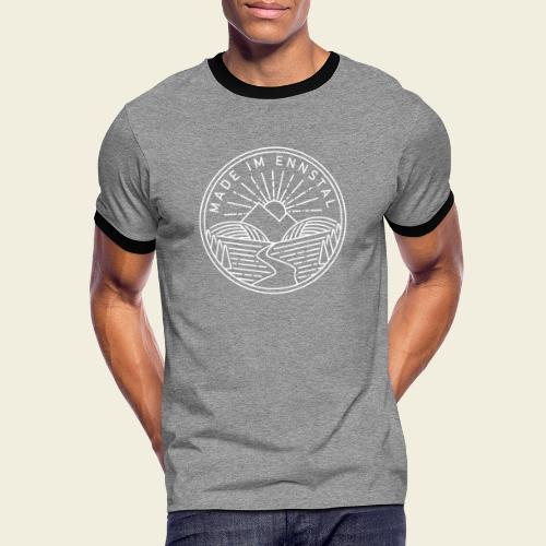 Made im Ennstal, weiß - Männer Kontrast-T-Shirt