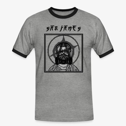 San James Logo+Txt no font - T-shirt contrasté Homme