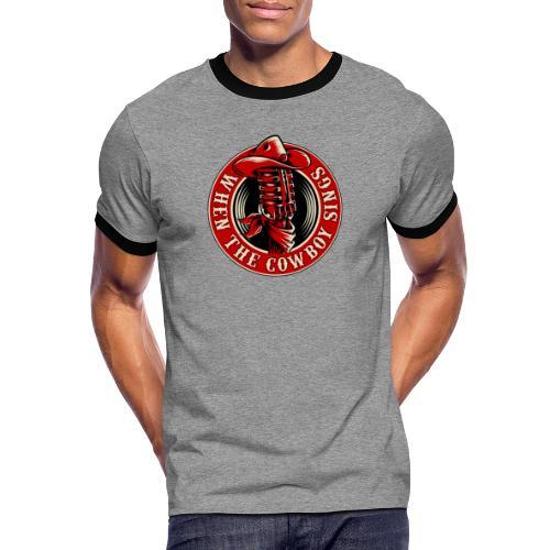 Logo when the cowboy sings - Camiseta contraste hombre