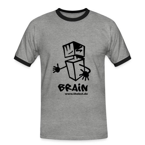 brain_logo_tshirt - Männer Kontrast-T-Shirt
