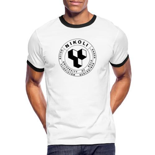 Nikolin musta logo - Miesten kontrastipaita