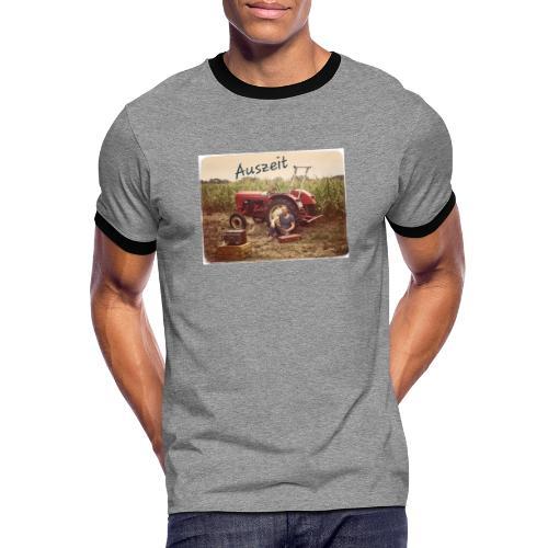 Auszeit - Männer Kontrast-T-Shirt